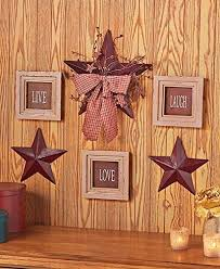 amazon com 6 pc inspirational sentiment star wall frame decor