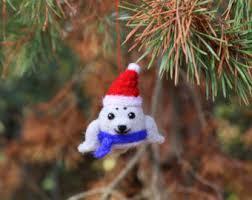 felt animal ornaments etsy