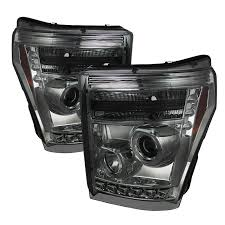 spyder 5070289 smoked projector headlights w led halo