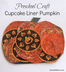 preschool halloween craft cupcake liner pumpkin title jpg