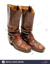 vintage motorcycle boots vintage distressed leather harness boots from the late 1960 u0027s to