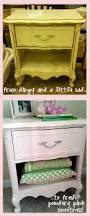 Pink Nightstand Side Table Before U0026 After Goodwill Bedside Table Goes Powder Pink Campclem