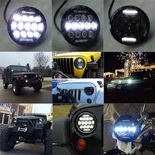 thar jeep modified in kerala led headlights for mahindra thar high low beam with drl set of 2