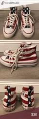 Converse American Flag Shoes American Flag Converse High Top Sneakers Converse High Converse
