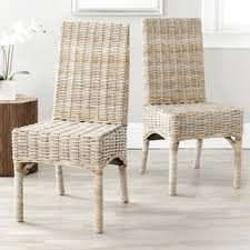 Safavieh Rural Woven Dining Quaker Unfinished Natural Wicker - Wicker dining room chairs