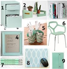 Green Desk Accessories Accessories Green Office Mint Decor And Office Spaces