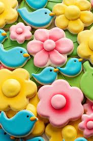 blue bird and flower cookies the bearfoot baker