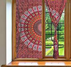 mandala hippie tapestry curtains u0026 window door drapes valances