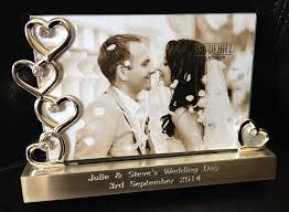 wedding gifts engraved wedding gift ideas photo frames lading for