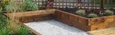 Railway Sleepers Garden Ideas How To Lay Railway Sleepers In The Garden Landscaping Blogs