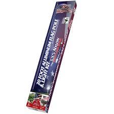 20 american flag pole set w 3 x5 american flag light kit