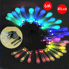 Novelty Patio Lights Raindrop Waterdrop Led Solar L String Lights Novelty Tree