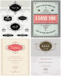 wedding invitations vector vintage classic wedding invitations vector vector design