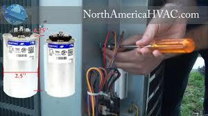 how to replace a capacitor hvac a c capacitor replacement youtube