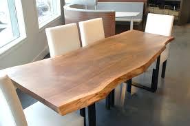 raw edge dining table live slab room walnut gunfodder com