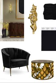Stylish Living Room by Black U0026 Gold For A Stylish Living Room U2013 Covet Edition