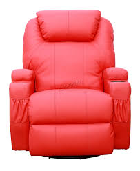 Leather Recliner Chair Uk Foxhunter Bonded Leather Sofa Massage Recliner Chair Swivel