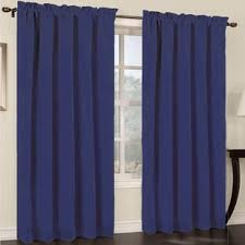 Blue Window Curtains Cobalt Blue Curtains Wayfair