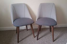 Made Dining Chairs Brand New Pair Of Made Lule Dining Chairs In Marl And Hail