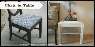 Riker Chair Upcycled Chair To Side Table The Happier Homemaker