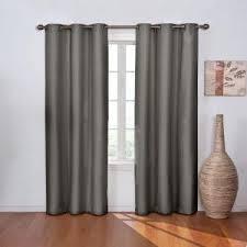 Black Curtain Eclipse Wyndham Blackout Jet Black Curtain Panel 84 In Length