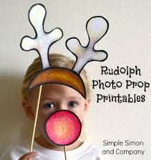 Christmas Photo Booth Props Holiday Photobooth Props Printable Patterns Simple Simon And