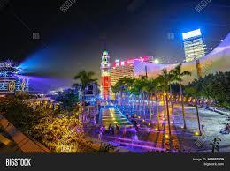 3d light show hong kong china december 5 2016 image photo bigstock