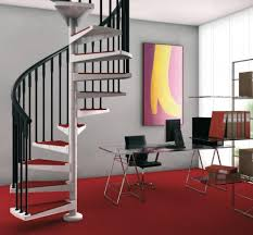 Inside Stairs Design Interior Modern Staircase Design Feature Spiral Stair Ivory Iron