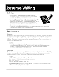 Sample Resume Education Section Writing An Activities Resume For College