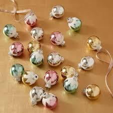 shiny brite mini snow cap ornaments set of 20 west elm