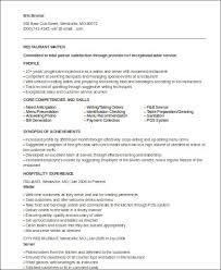 Sample Server Resume by 100 Waiter Resume Examples Sample Resume Waitress Redoubtable
