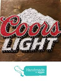 coors light sign amazon coors light string art sign made to order from ruby owl designs
