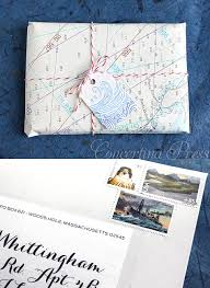 nautical wrapping paper concertina press stationery and invitations nautical chart gift