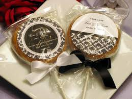 Cookie Favors by Lmk Gifts Personalized Damask Wedding Cookie Pop Favors
