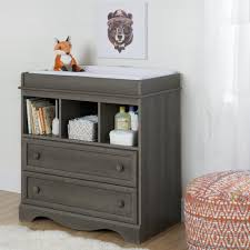 south shore savannah changing table with drawers gray maple south shore savannah 2 drawer gray maple changing table 10429 the
