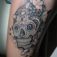 35 best grey skull tattoos ideas and collection