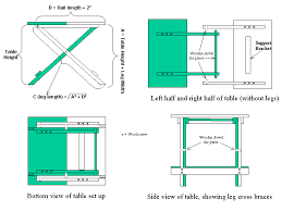 Collapsible Drafting Table Folding Table