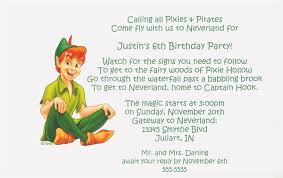 free printable peter pan birthday party invitations template