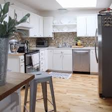 How To Install A Laminate Kitchen Countertop - remodelaholic kitchen mini makeover with affordable tiled diy