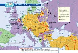 Ww1 Map World War I Maps Throughout 1 Map Of Europe Besttabletfor Me