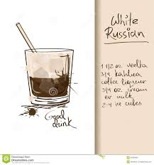 white russian drink recipe illustration with white russian cocktail stock images image
