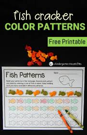 fish cracker color patterns kindergarten connection