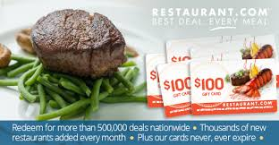restaurant gift cards half price specials by restaurant 5 100 restaurant gift cards for 96