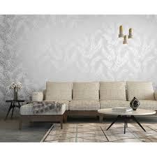Grey Wallpaper Living Room Uk I Love Wallpaper Shimmer Virtue Wallpaper Grey Silver 50052