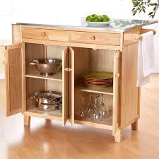 crosley furniture alexandria natural wood top kitchen island