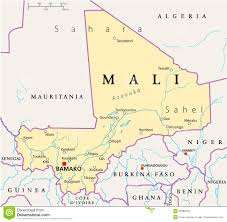 Mali Map Africa by Mali Political Map Royalty Free Stock Photo Image 32988135