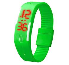 digital bracelet led watches images Gosasa fanmis simple green gel rubber bracelet touch screen led jpg