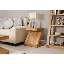 z solid oak designer furniture side lamp table