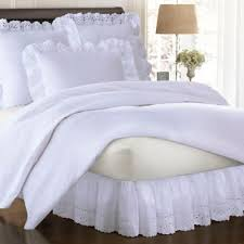 White Ruffled Comforter Buy White Eyelet Bedding From Bed Bath U0026 Beyond