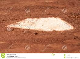 Home Plate Baseball by A Baseball Home Plate Is Surrounded By Dirt Royalty Free Stock